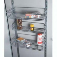 Pantry door mounted baskets