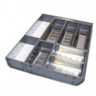 Stainless steel organizer with extra section