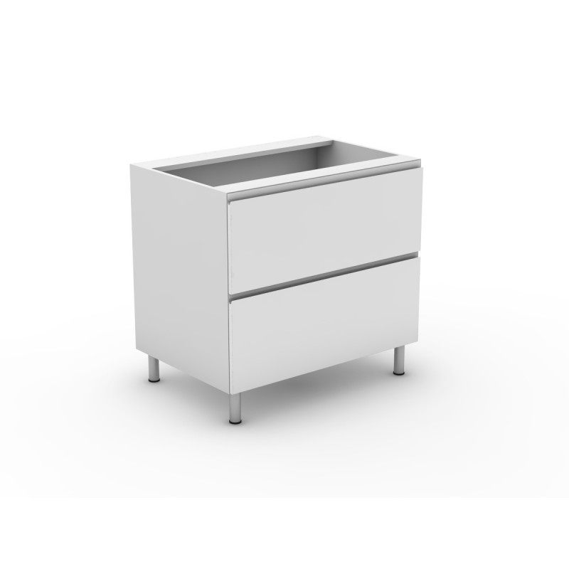 2 pot drawers shadowline for 800 kitchen drawer unit