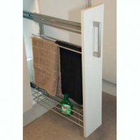 side mounted rollout with tea towel rail