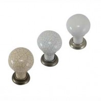 Round porcelain knobs