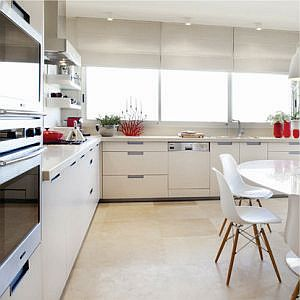 Flat pack kitchens with laminated doors melamine